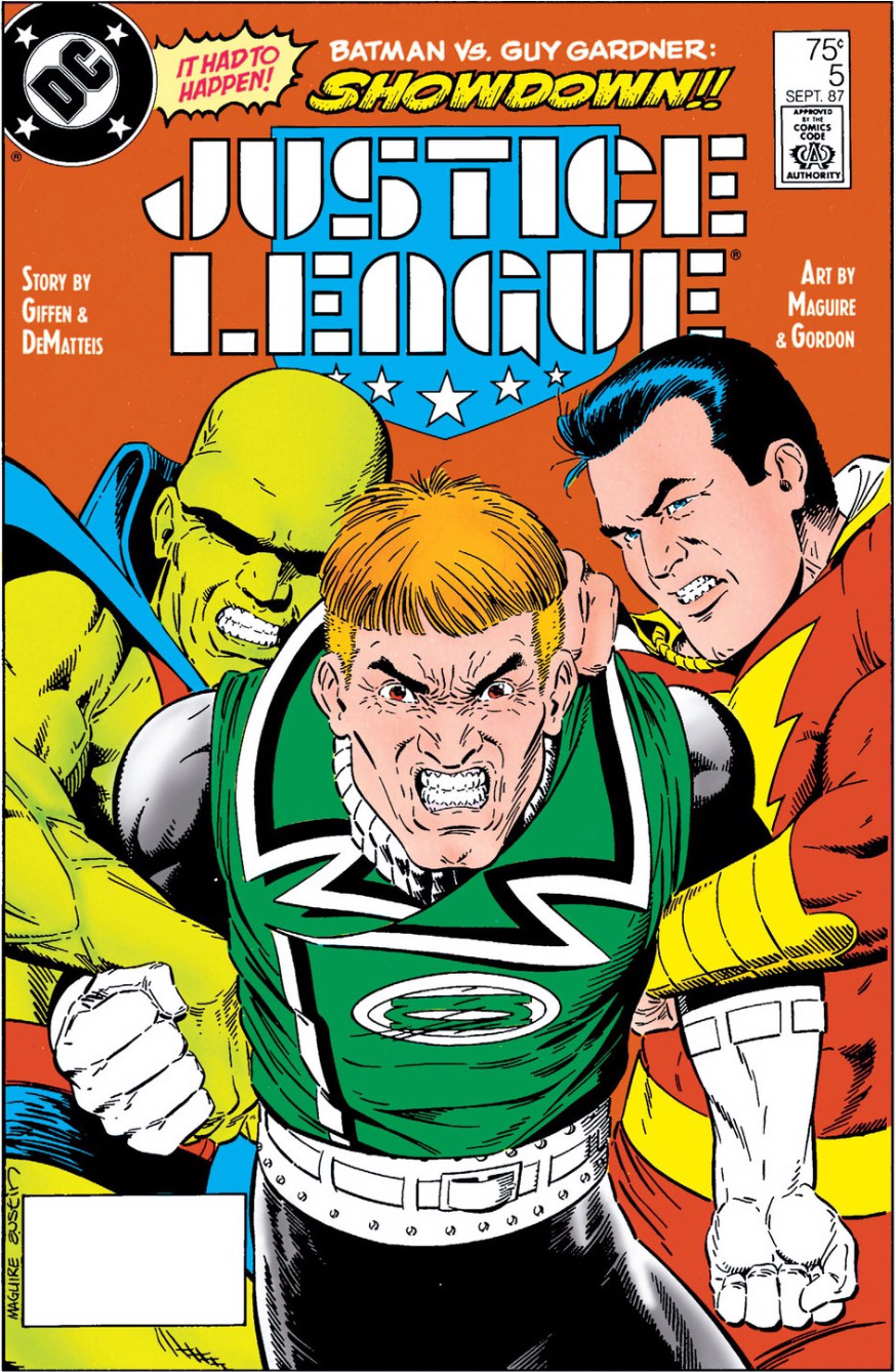 Justice League #5 cover by Kevin Maguire and Terry Austin