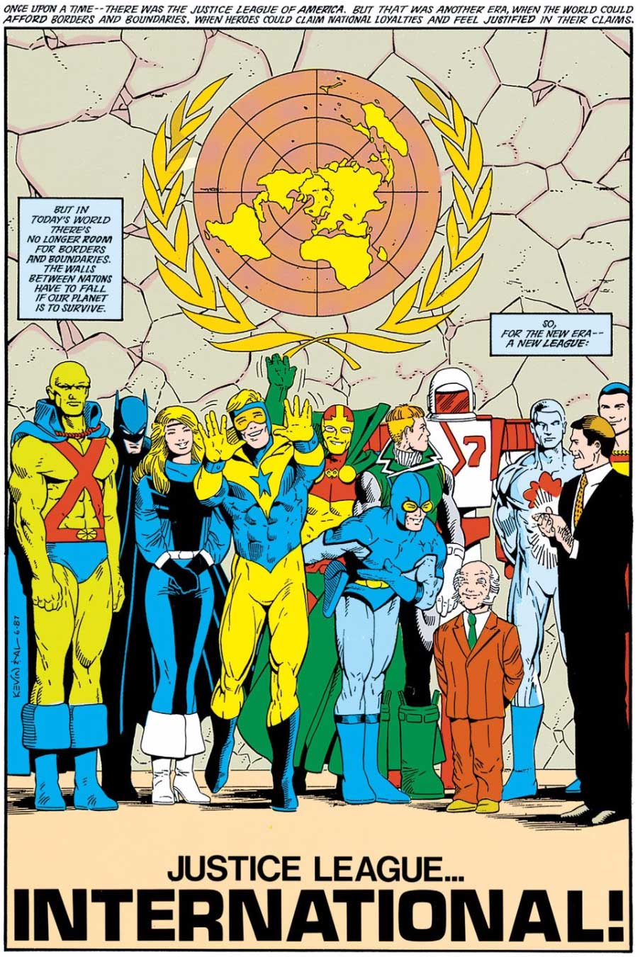 Justice League International #7 by Keith Giffen, J.M. DeMatteis, Kevin Maguire, and Al Gordon