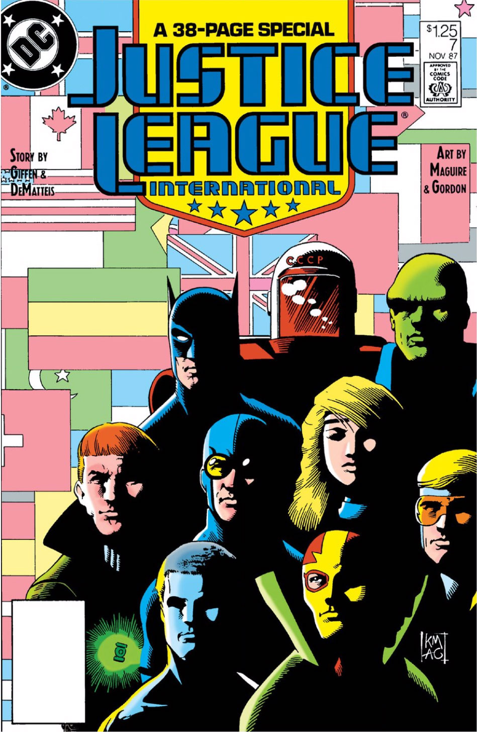 Justice League International #7 cover by Kevin Maguire and Al Gordon