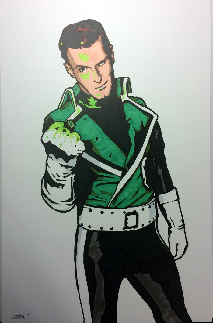 Guy Gardner by Jarrod Alberich, The Yard Sale Artist