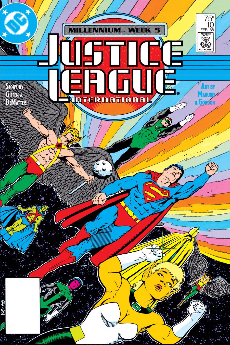 Justice League International #10 cover by Kevin Maguire and Al Gordon