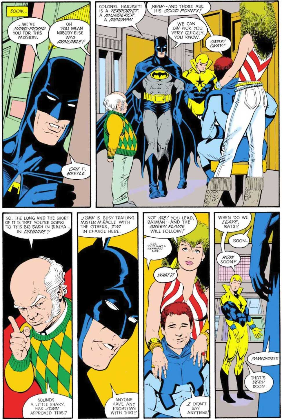 Justice League International #16 by Keith Giffen, JM DeMatteis, Kevin Maguire, and Al Gordon