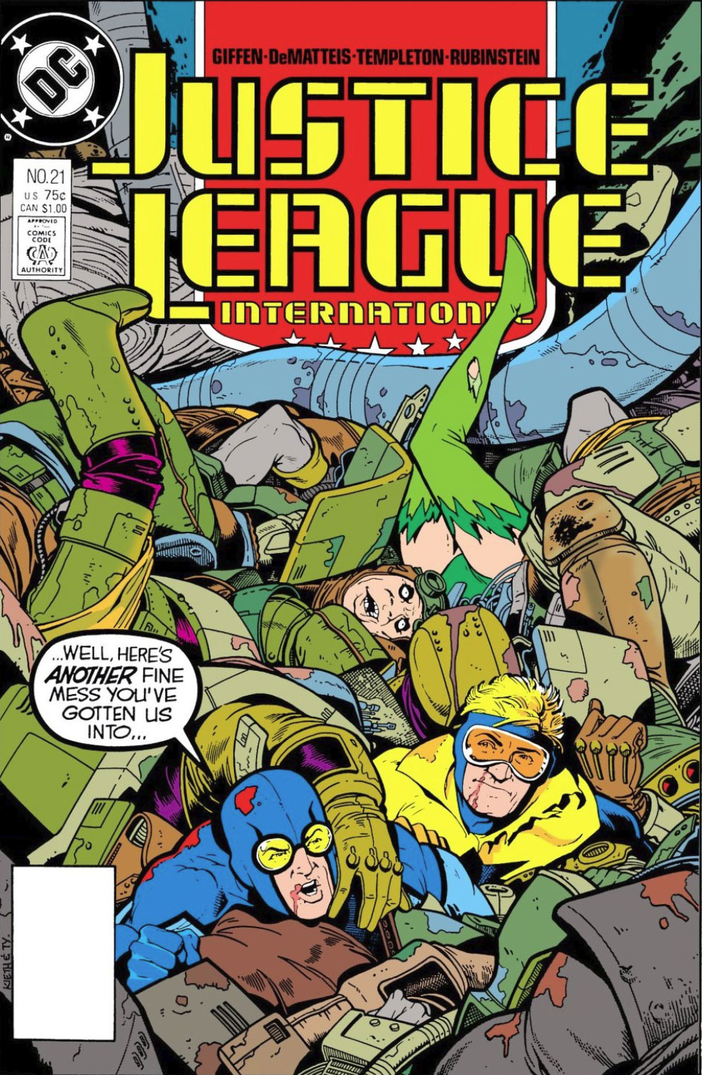 Justice League International #21 cover by Keith Giffen and Ty Templeton!