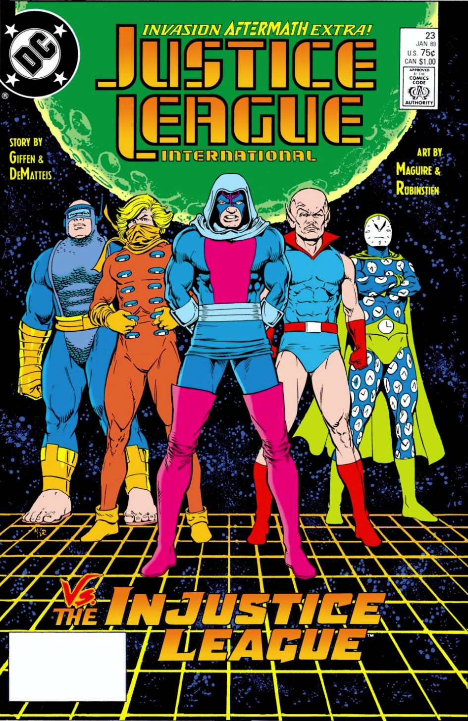 Justice League International #23 by Keith Giffen, JM DeMatteis, Kevin Maguire and Joe Rubinstein