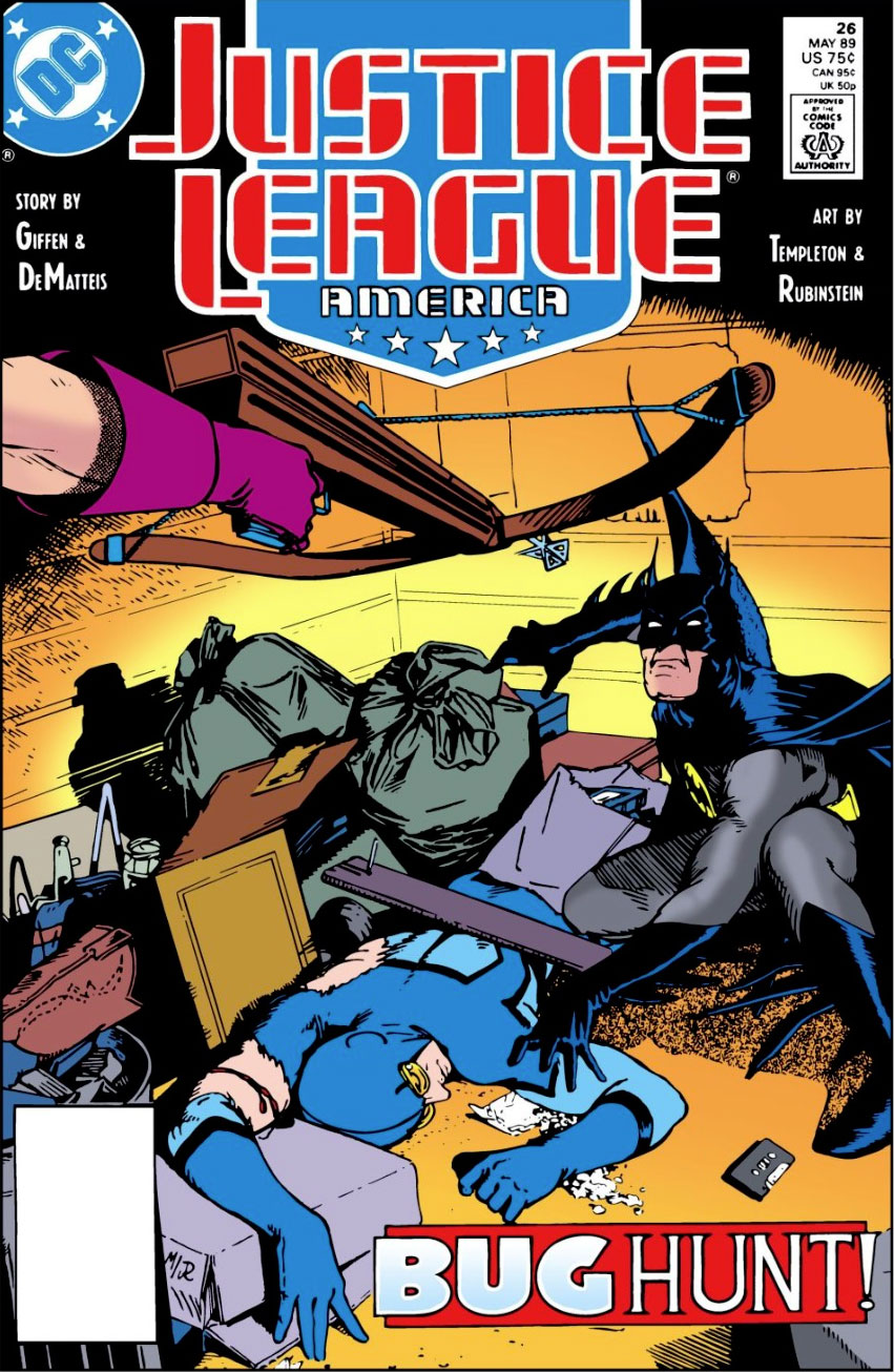 Justice League America #26 cover by Kevin Maguire and Joe Rubinstein