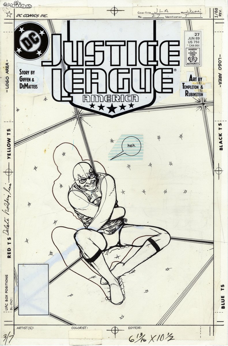 Justice League America #27 unpublished cover by Kevin Maguire