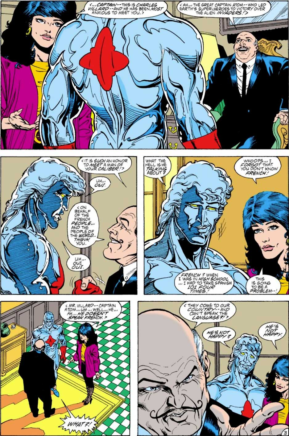 Justice League Europe #3 interiors by Keith Giffen, JM DeMatteis, Bart Sears and Pablo Marcos