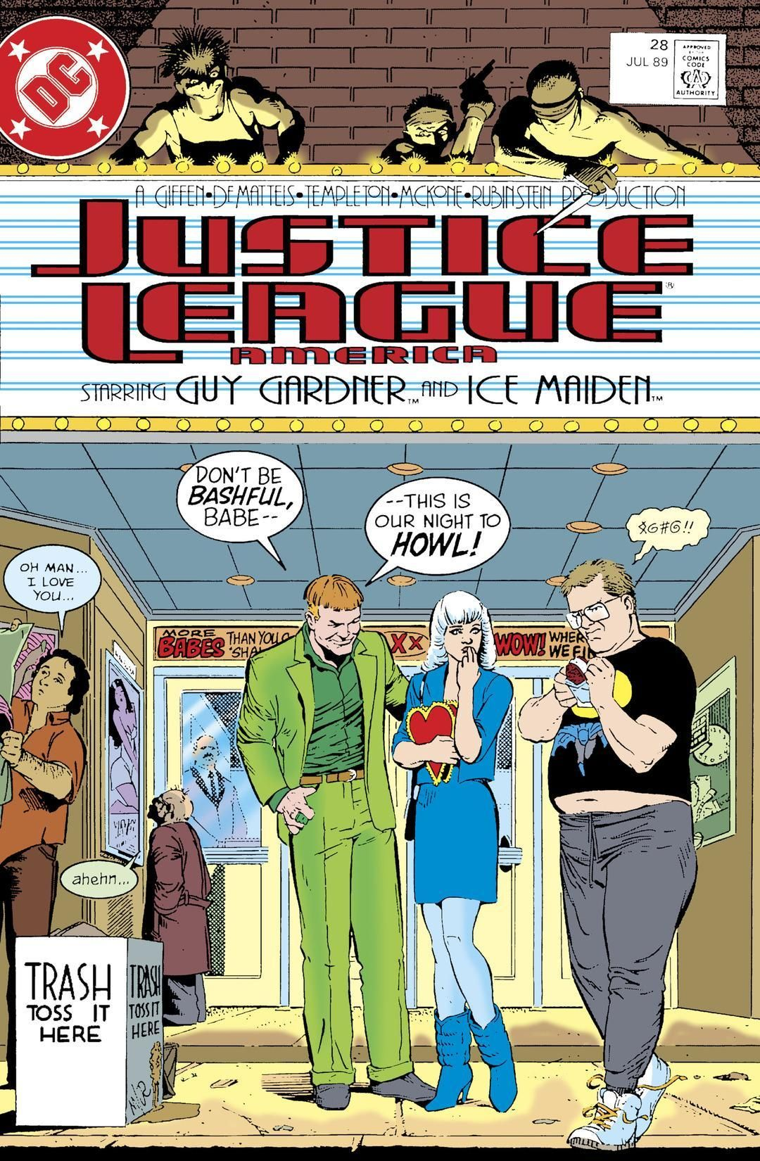 Justice League America #28 cover by Kevin Maguire & Joe Rubinstein