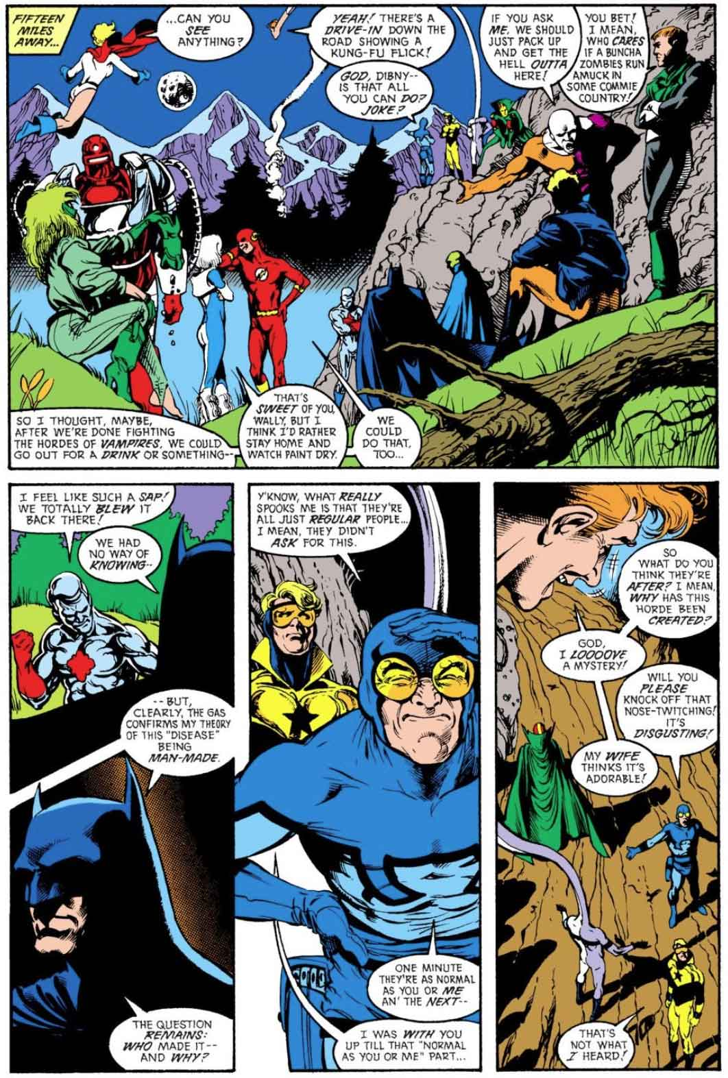 Justice League America #32 by Keith Giffen, J.M. DeMatteis, Adam Hughes, and Art Nichols