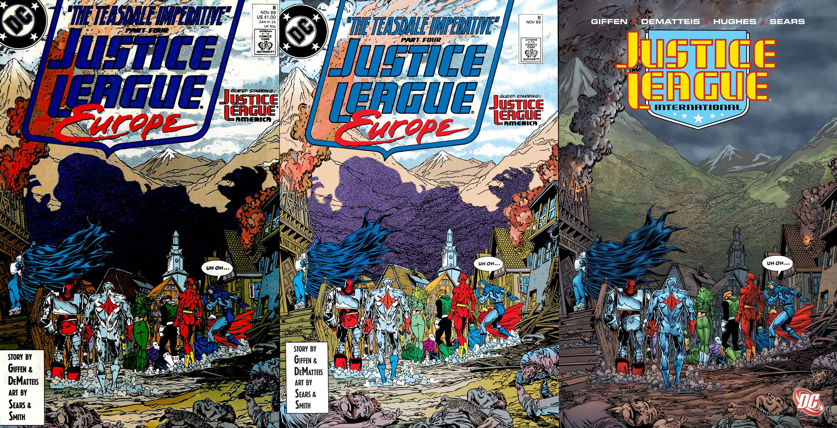Justice League Europe #8 cover by Bart Sears and Art Nichols
