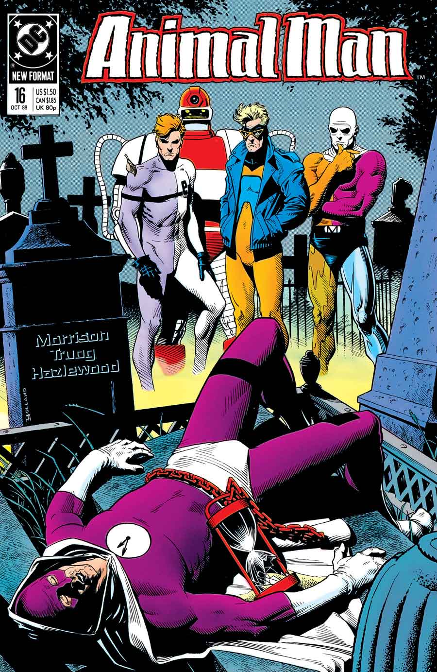 Animal Man #16 cover by Brian Bolland