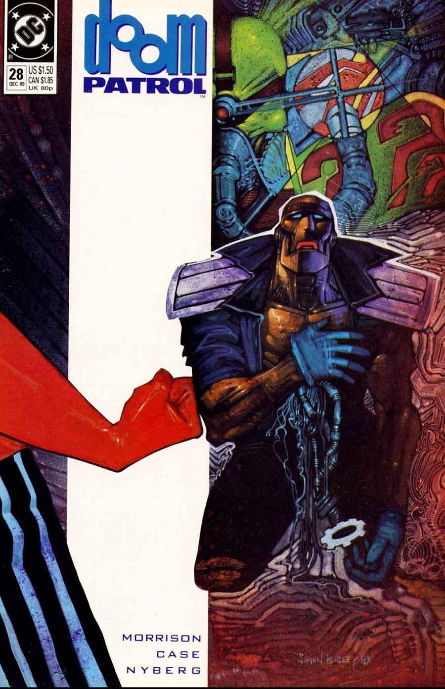 Doom Patrol #28 cover by Simon Bisley