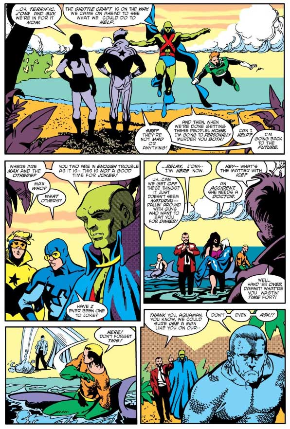 Justice League America #35 by Keith Giffen, J.M. DeMatteis, Adam Hughes, with Art Nichols, Jose Marzan, and Joe Rubinstein