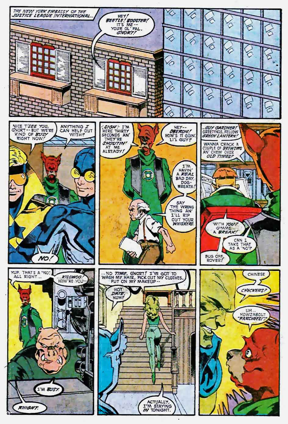 Justice League America #36 by Keith Giffen, J.M. DeMatteis, Tom Artis, and Art Nichols