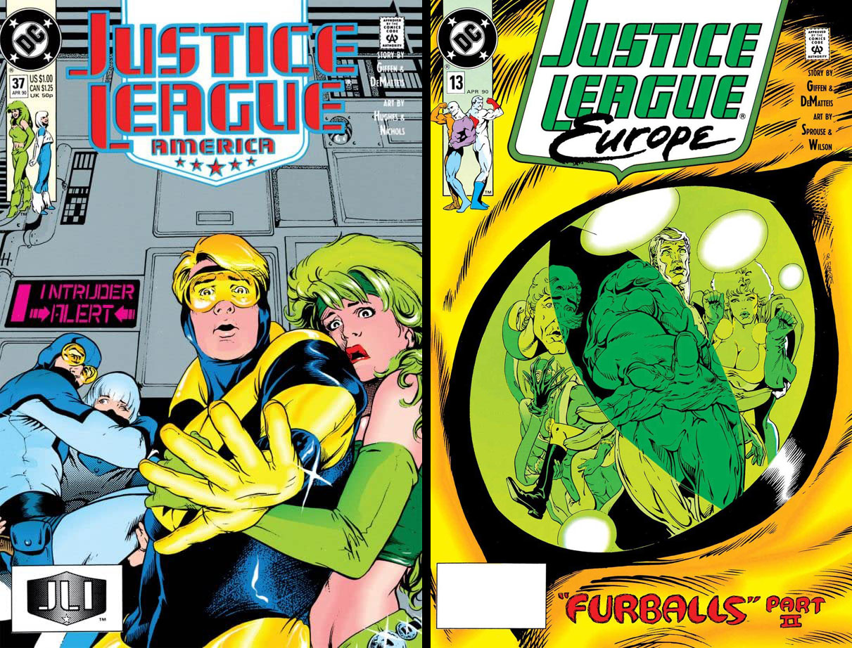 Justice League America #37 and Justice League Europe #13 - Furballs