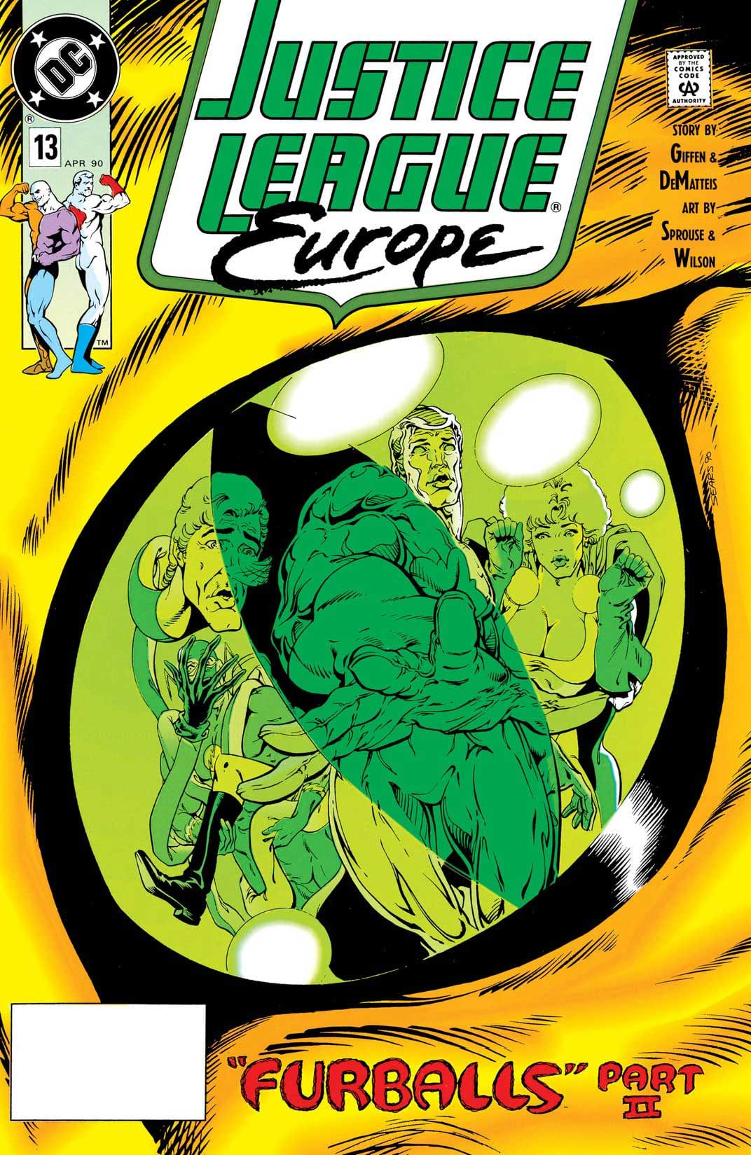 Justice League Europe #13 cover by Bart Sears