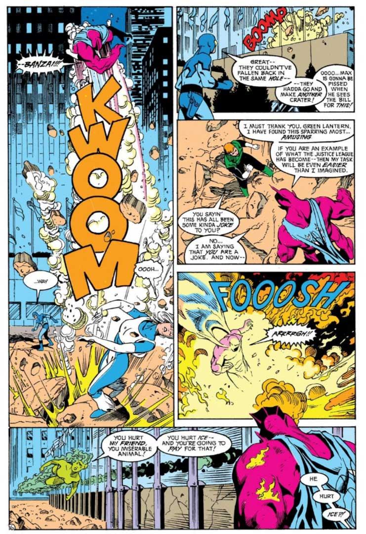 Justice League America #39 by Keith Giffen, J.M. DeMatteis, Adam Hughes and Joe Rubinstein