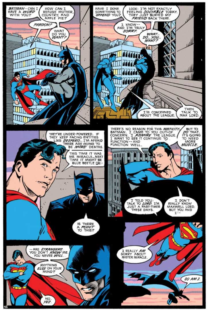 Justice League America #40 by Keith Giffen, J.M. DeMatteis, Adam Hughes and Jose Marzan, Jr
