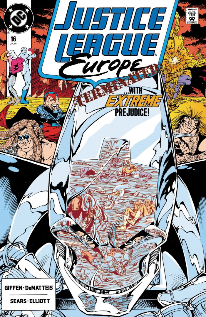 Justice League Europe #16 cover by Bart Sears