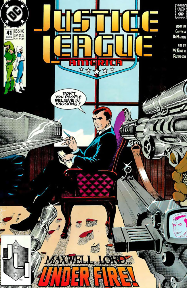 Justice League America #41 cover by Adam Hughes