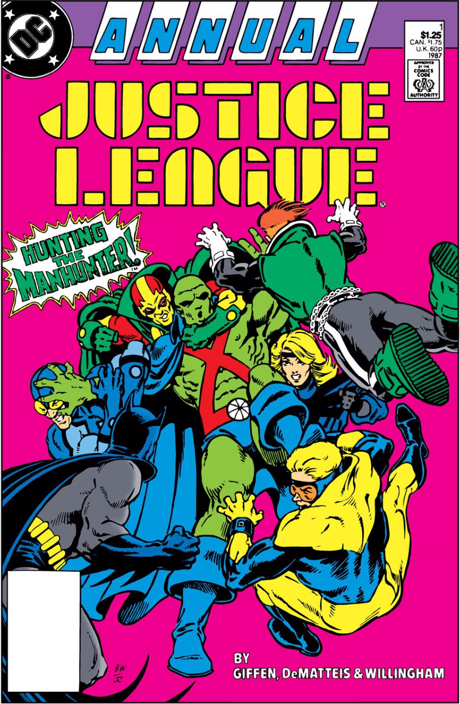 Justice League Annual #1 cover by Bill Willingham and Joe Rubinstein
