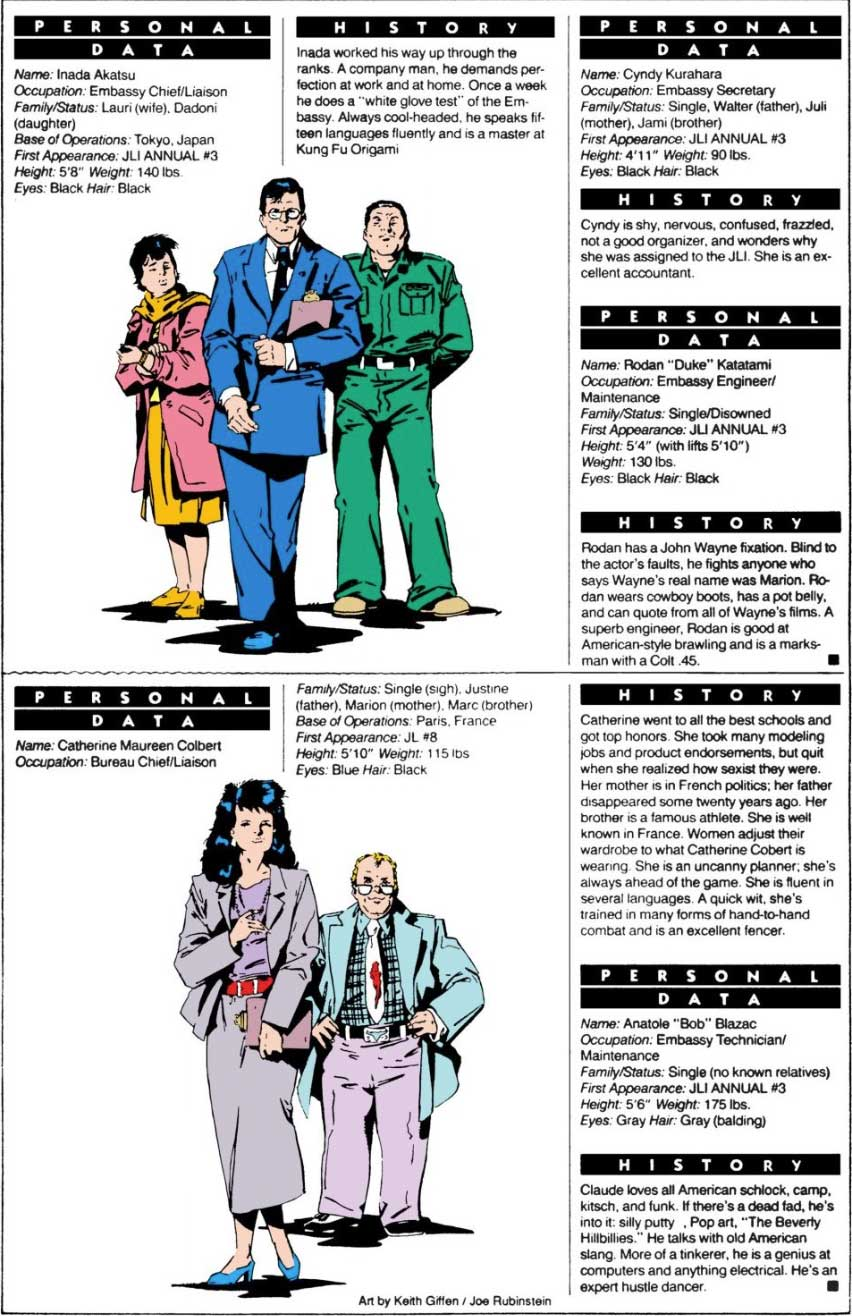 Who's Who in Justice League International Annual #3 (1989)
