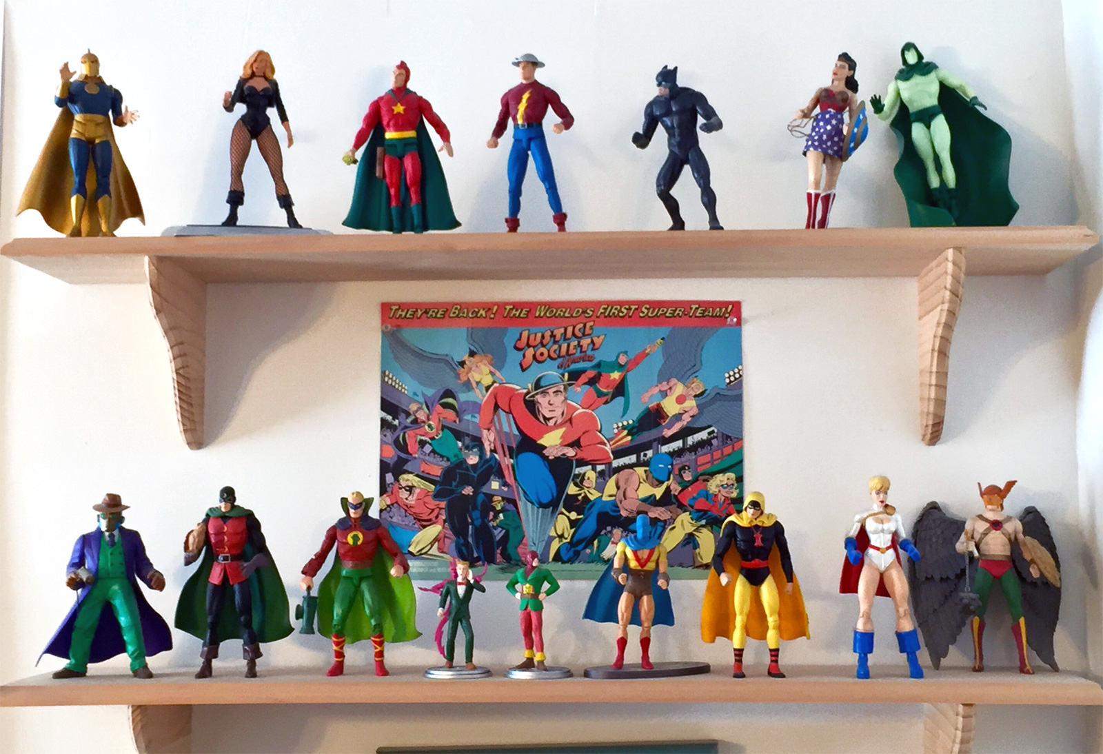 Shag's JSA action figure shelf!