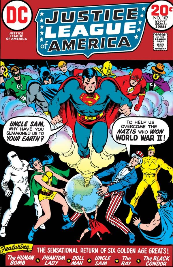 Justice League of America #107 cover by Nick Cardy