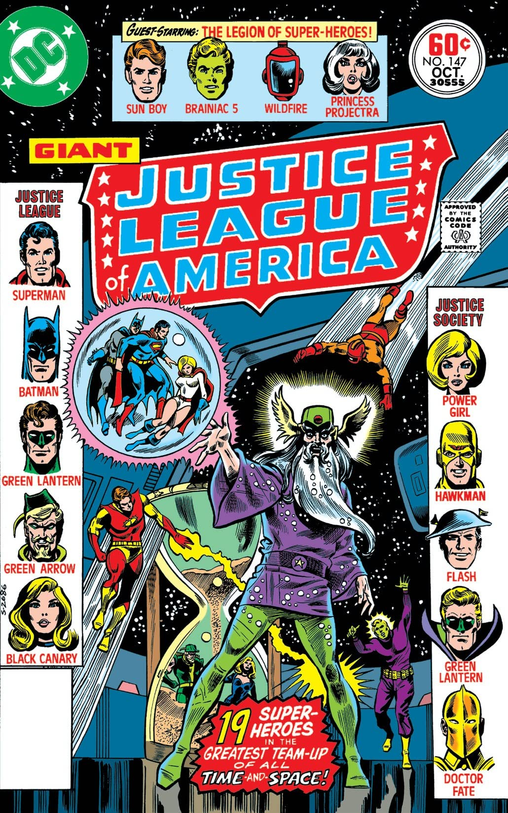 Justice League of America #147 cover by Dick Dillin and Frank McLaughlin
