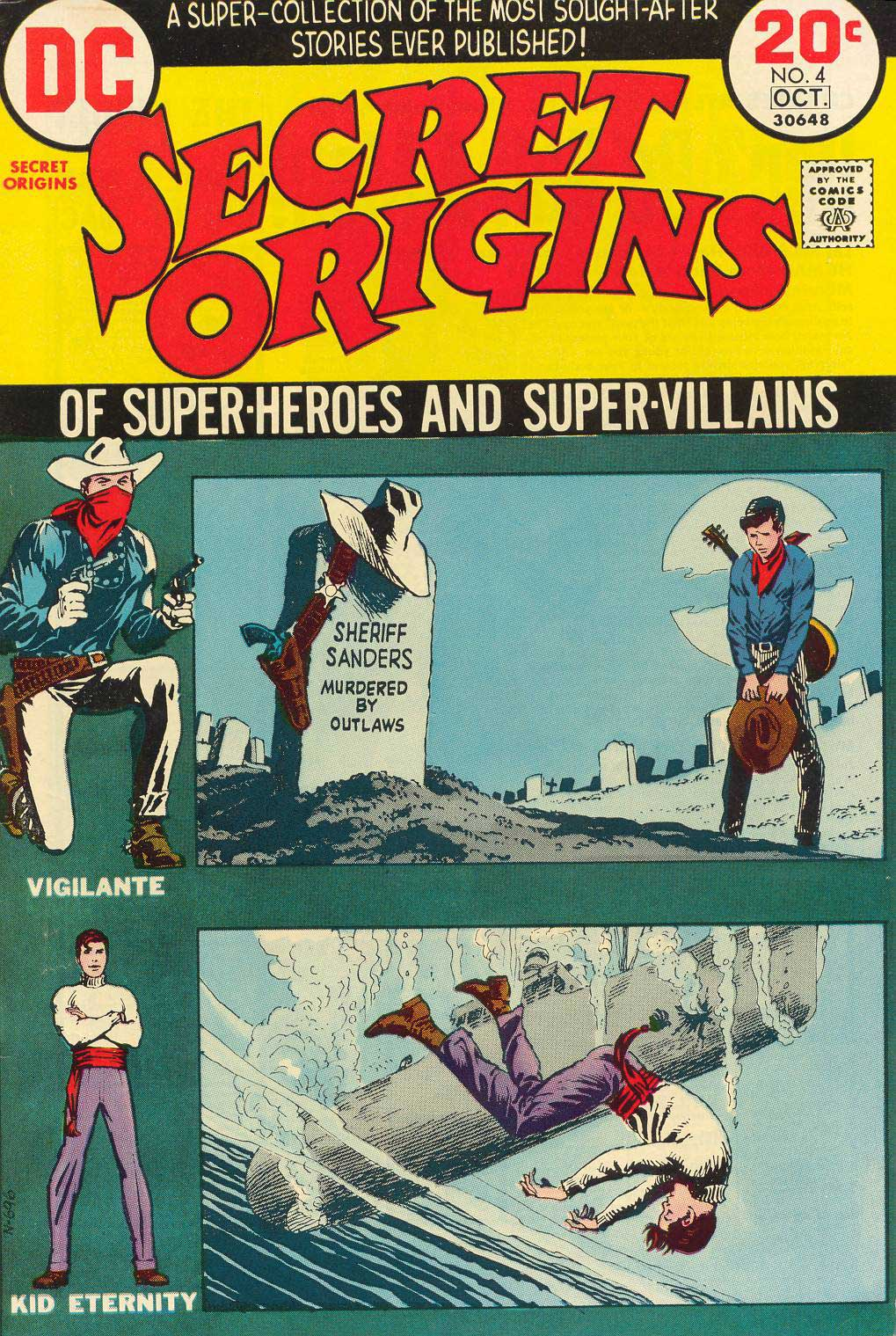 Secret Origins #4 (Sept/Oct 1983) cover by Nick Cardy featuring the Vigilante and Kid Eternity