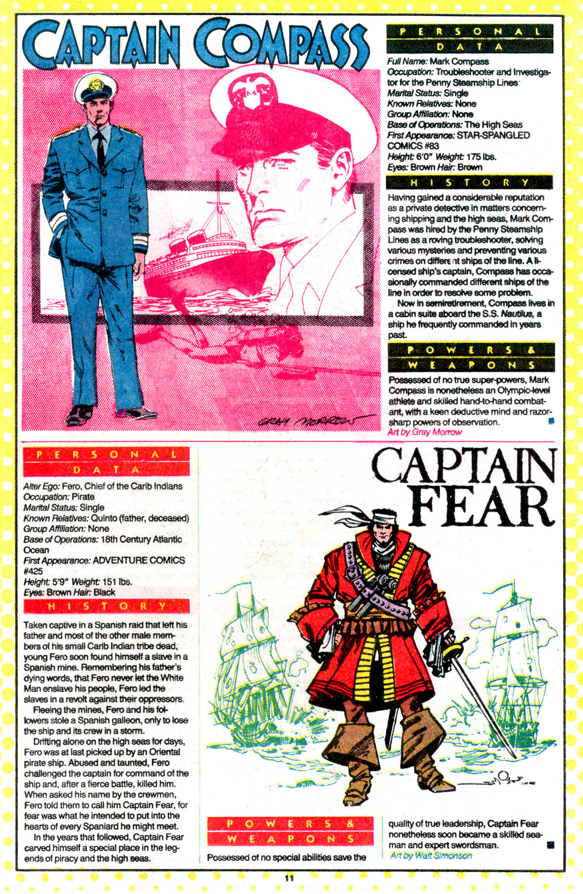 Who's Who: The Definitive Directory of the DC Universe #4 (1985) - Captain Fear drawn by Walt Simonson
