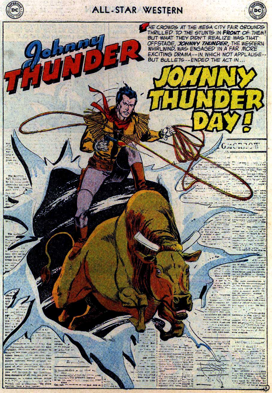 "ALL-STAR WESTERN #86 featuring Johnny Thunder in, ""Johnny Thunder Day"" by Robert Kanigher and Gil Kane"