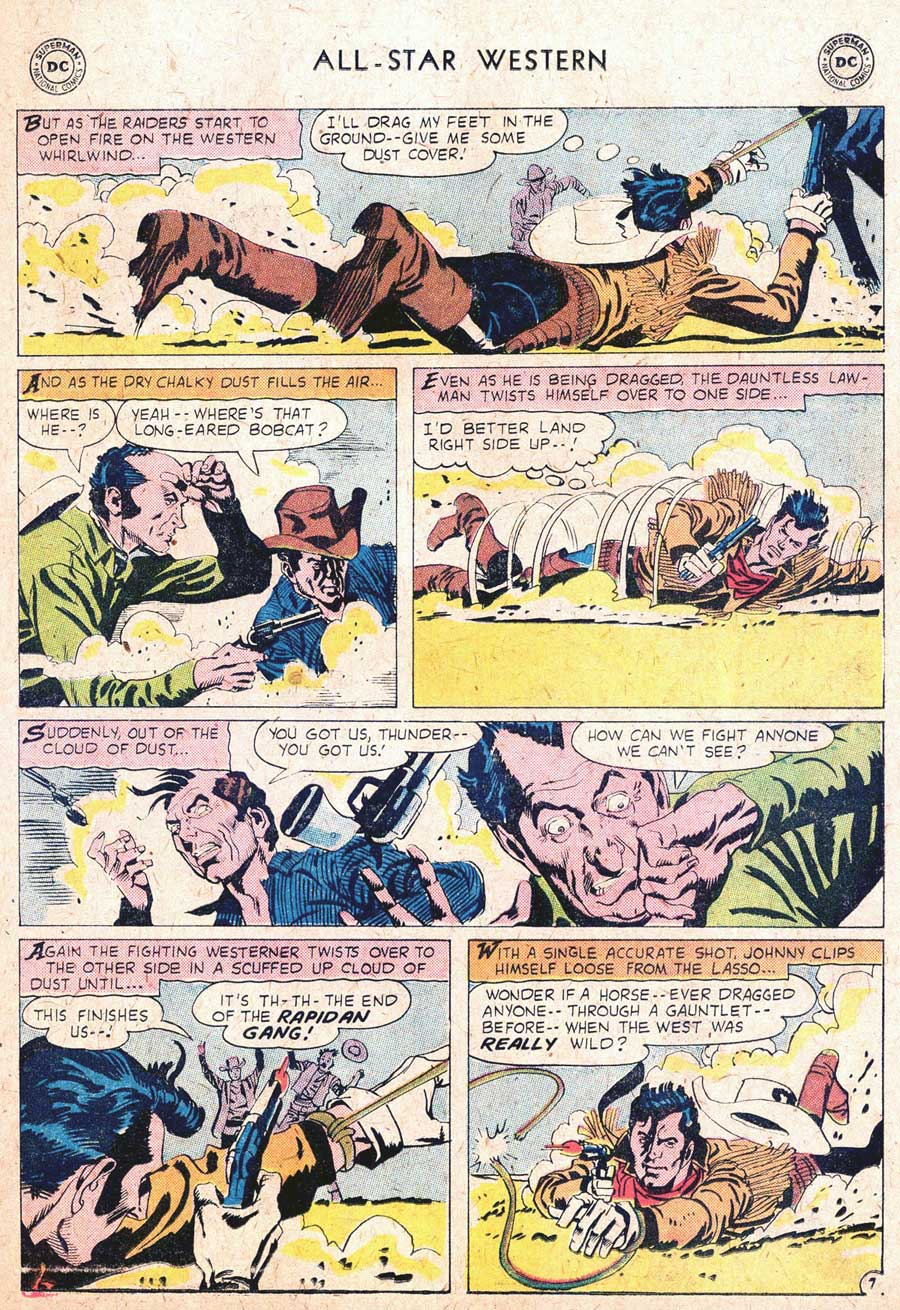 "ALL-STAR WESTERN #104 featuring Johnny Thunder in, ""The Gauntlet of Thunder"" by Robert Kanigher and Gil Kane"