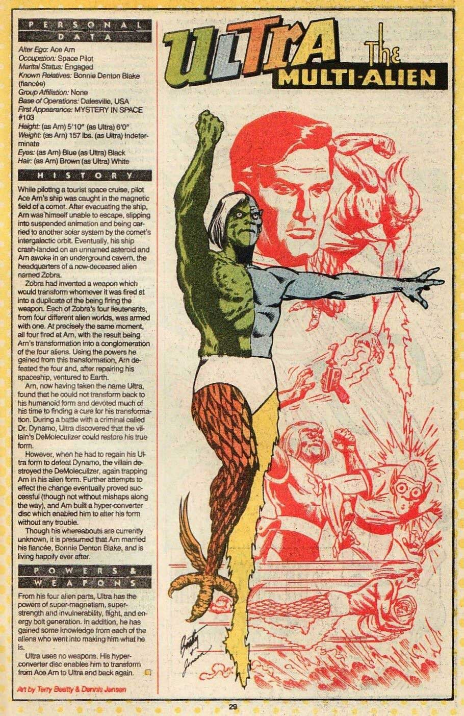 Who's Who: The Definitive Directory of the DC Universe #24 (1987) drawn by Terry Beatty and Dennis Jensen