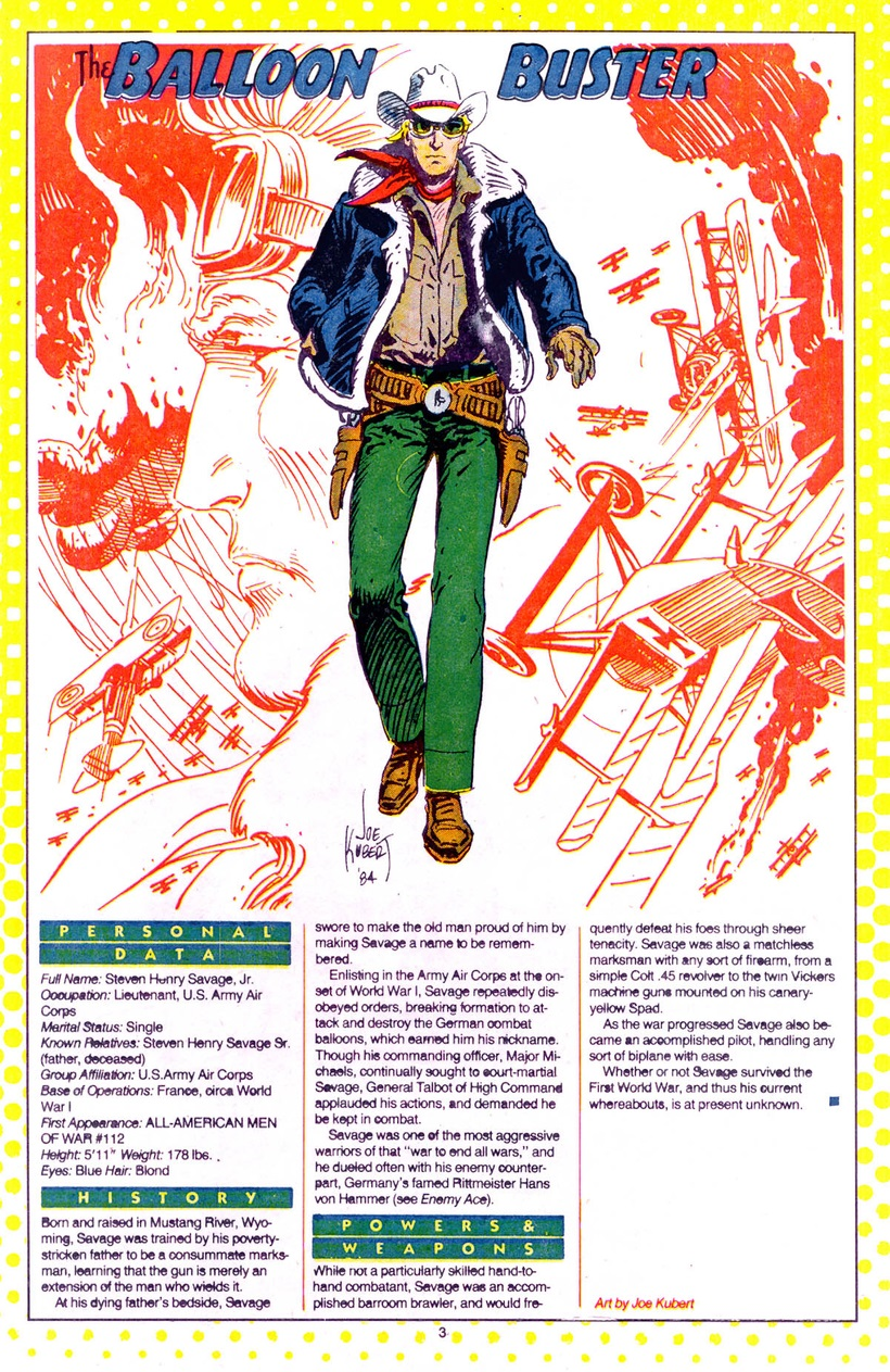 Who's Who: The Definitive Directory of the DC Universe #2 (1985) - Balloon Buster drawn by Joe Kubert