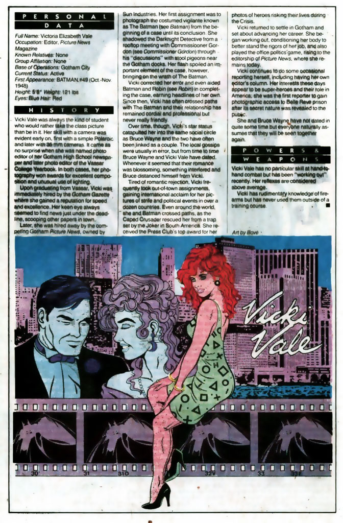 Who's Who 1989 Annual Vicki Vale by Bove