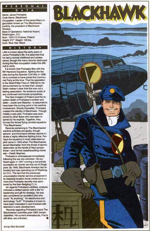 Who's Who 1989 Annual Blackhawk by Rick Burchett