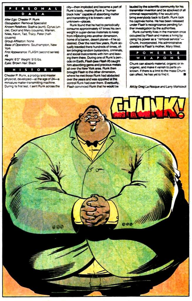 Who's Who 1989 Annual Chunk by Greg LaRocque and Larry Mahlstedt