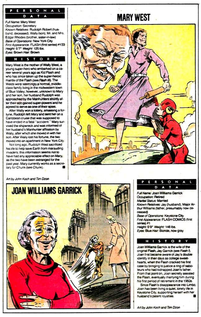 Who's Who 1989 Annual Mary West and Joan Williams Garrick by John Koch and Tim Dzon