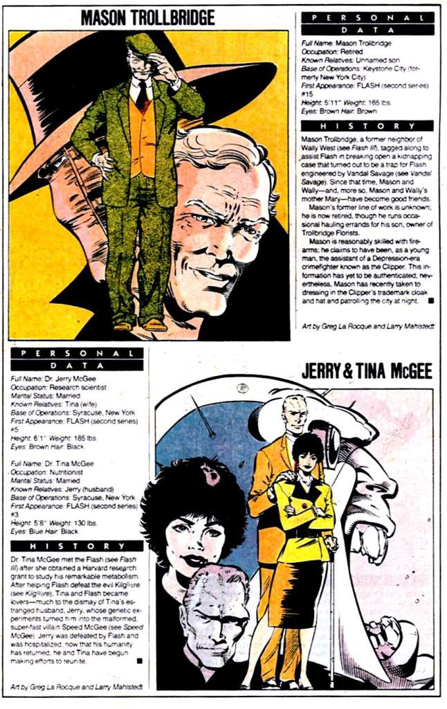 Who's Who 1989 Annual Mason Trollbridge and Jerry & Tina McGee by Greg LaRocque and Larry Mahlstedt