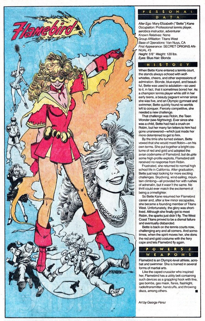 Who's Who 1989 Annual Flamebird by George Perez