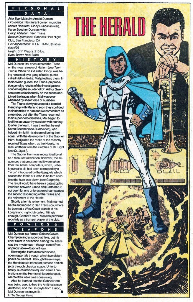 Who's Who 1989 Annual The Herald by George Perez