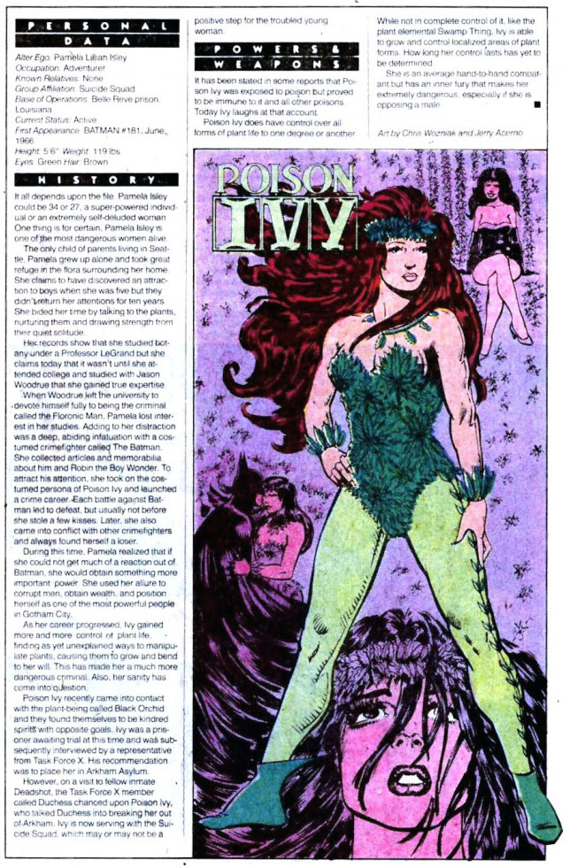 Who's Who 1989 Annual Detective Comics Annual #2 - Poison Ivy by Chris Wozniak and Jerry Acerno