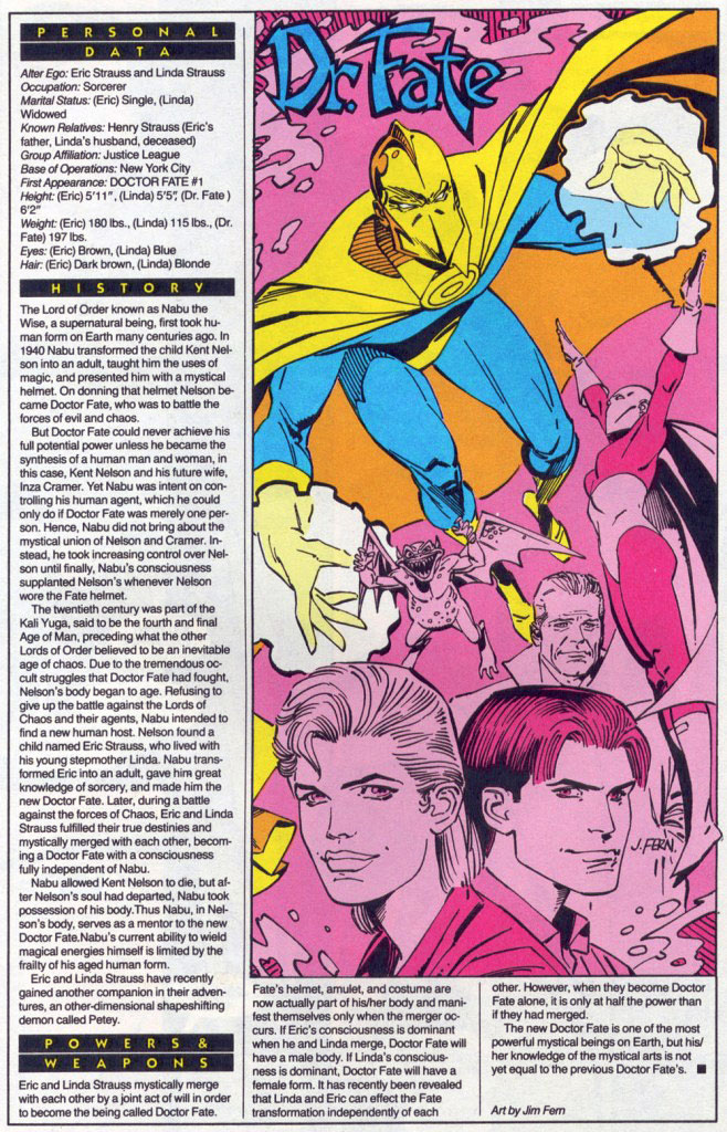 Who's Who 1989 Annual Dr. Fate Annual #1 - Dr. Fate by Jim Fern