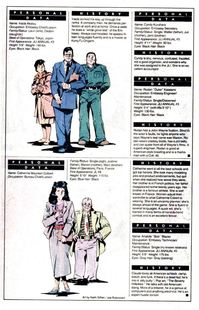 Who's Who 1989 Annual Justice League International Annual #3 - Embassies: Japan, France