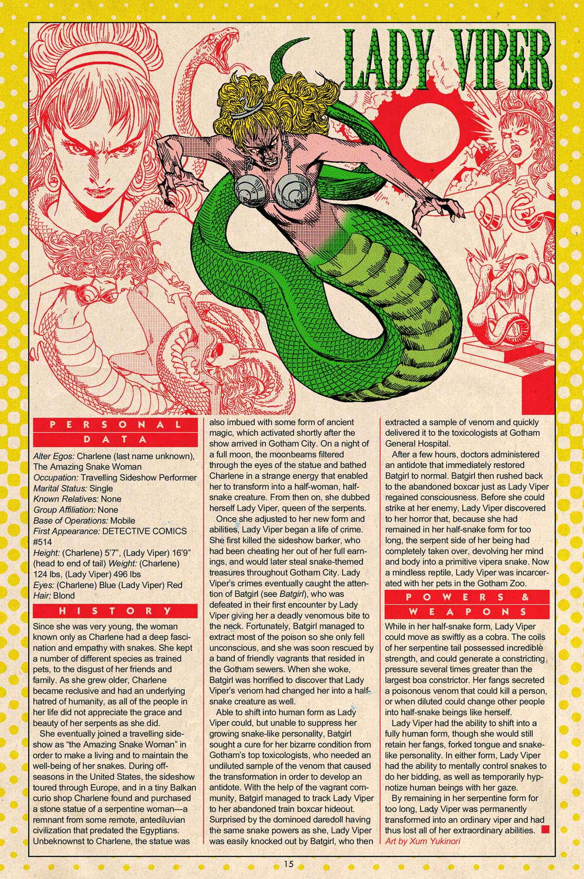 Lady Viper Who's Who by Xum Yukinori