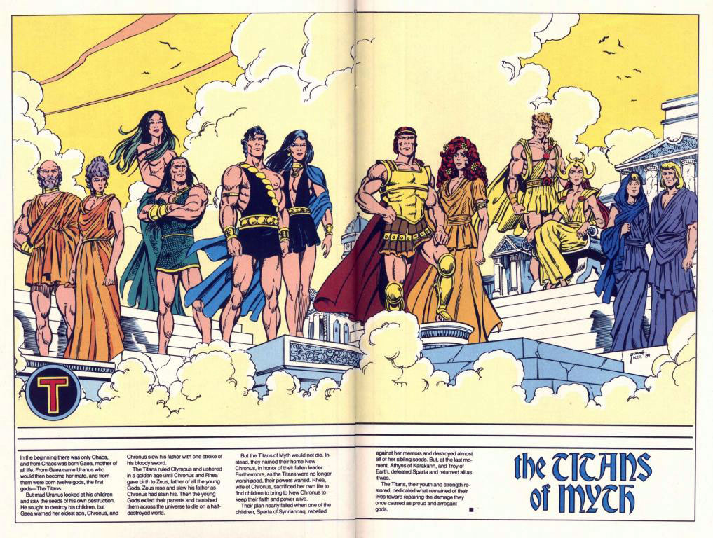 Who's Who 1989 Annual New Titans Annual #5 - The Titans of Myth by Tom Grummett