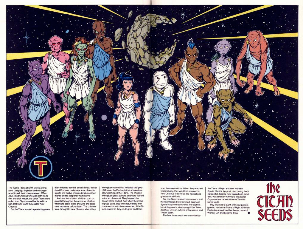 Who's Who 1989 Annual New Titans Annual #5 - Titan Seeds by Tom Grummett