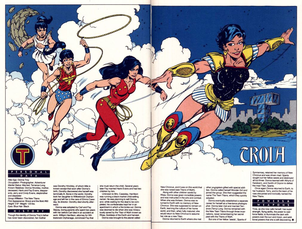 Who's Who 1989 Annual New Titans Annual #5 - Troia by Tom Grummett