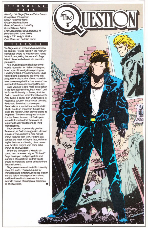 Who's Who 1989 Annual Question Annual #2 - Question by Denys Cowan